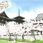 世界最古の木造建築、法隆寺