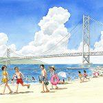 世界一の吊り橋、明石海峡大橋
