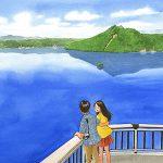 世界一の透明度を記録した摩周湖