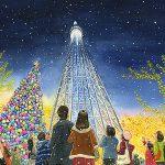 クリスマスイルミネーションに輝く東京スカイツリー