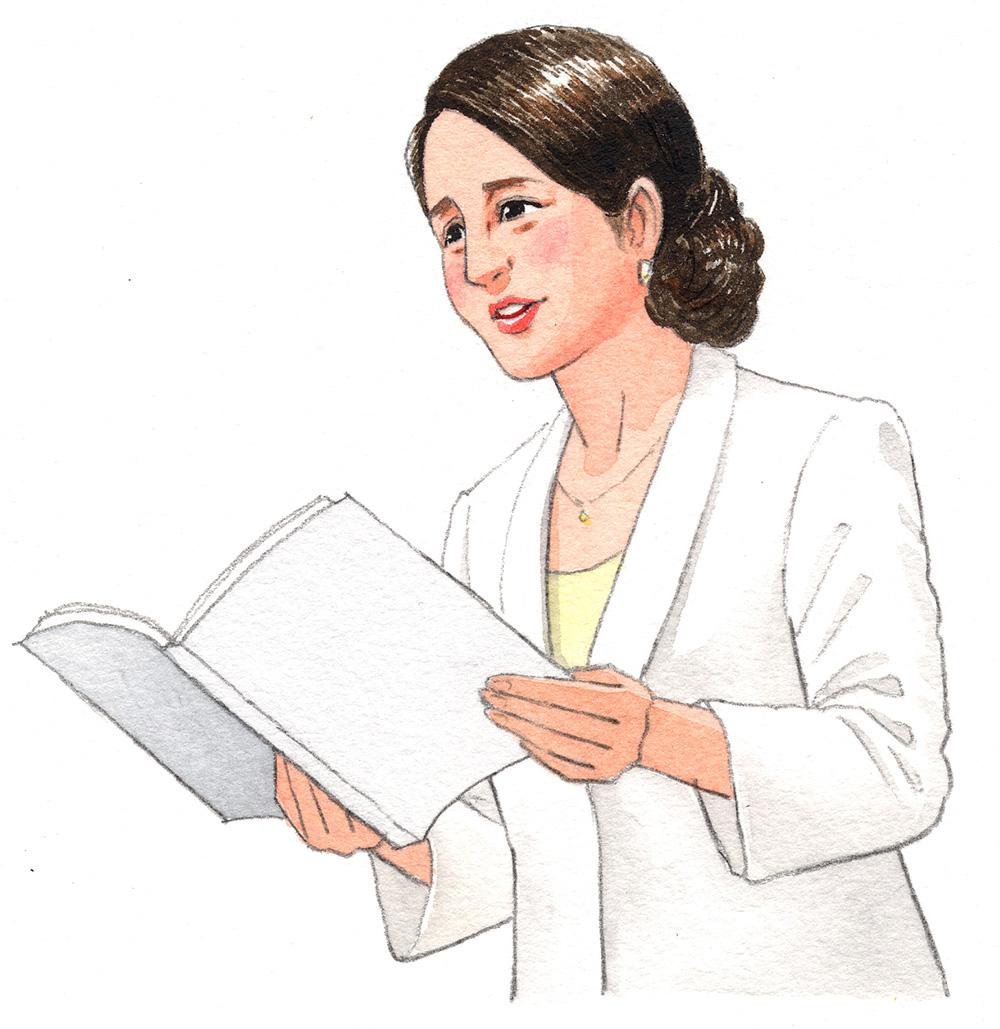 中学校の道徳の教科書に掲載された挿絵。原爆について吉永小百合が語るシーンのためのイラスト。