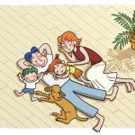 子育て優先住宅「小川の家」の自然素材の床のイメージイラスト
