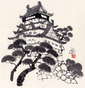 北九州市の小倉城・小倉祇園太鼓箱のお城の下で行われます。