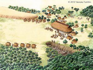 1万年以上も続いた縄文時代の暮らしを、学習教材のために描きました。