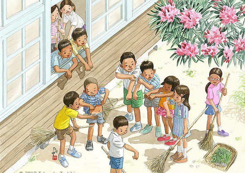夏休みが終わり、学校で友達と会うとみんな日焼けを比べあってくろんぼ自慢。