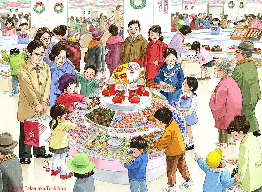 年末のデパ地下にはお菓子が山盛りになって回っていていろいろ選ぶのが楽しかった